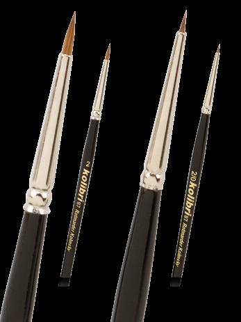 Retuschierpinsel Rotmarder, Modellbaupinsel, Miniaturpinsel, Detailpinsel, Nailbrush, Nailart pinsel