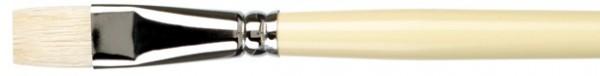 Borsten-Ölmalpinsel flach, klassische Ausführung, Borstgussow, Chungking Borsten, Ölmalerei