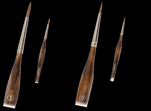 Detailpinsel Rotmarderhaar Griffel Holzstiel Nailpinsel Modellpinsel