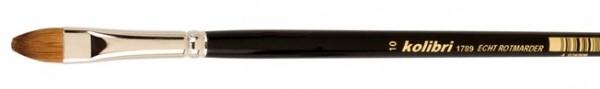 Rotmarderhaar-Ölmalpinsel, katzenzungenform, langer Stiel, Acryl, Gouache, Nailart, Staffelei
