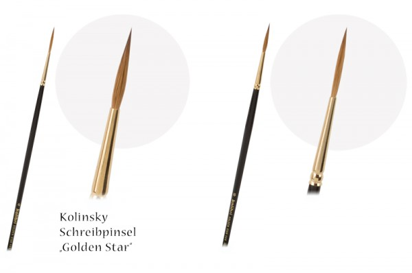 Kolinsky-Schreibpinsel Golden Star spitz - Schriftenpinsel - Linierer