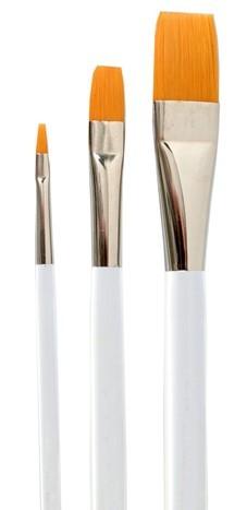 Universalpinsel flach, Synthetic Golden Sable, Acrylllackstiel