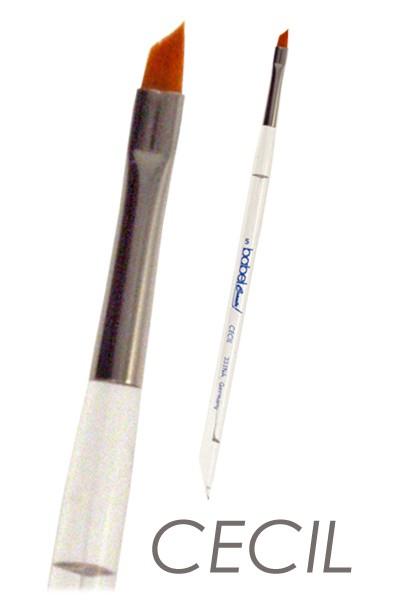 Nail Art Pinsel CECIL - schräge Form