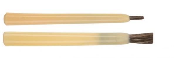 Stupp-Pinsel stumpf - Iltishaare - Kunststoffkiel