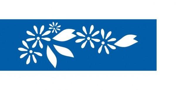 Schablone Blumen - Wandschablone, Bordürenschablone