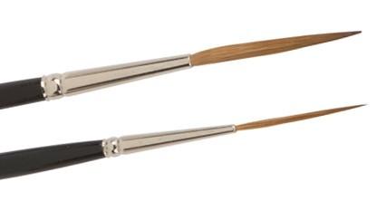 Rotmarder-Schreibschlepper stumpf und extralang, kurzer Stiel, Haarschlepper