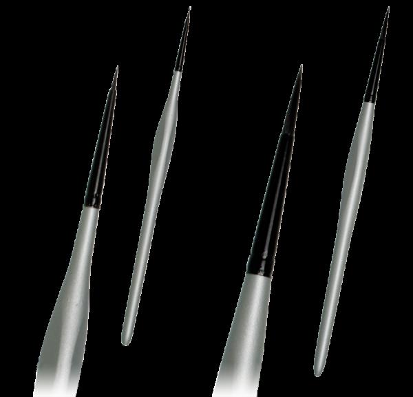 Detailpinsel Silber Schwarz Nailpinsel Modellbaupinsel, Miniaturpinsel