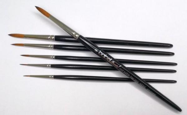 Aquarellpinsel aus einer speziellen Natur- und Synthetik-Haarmischung