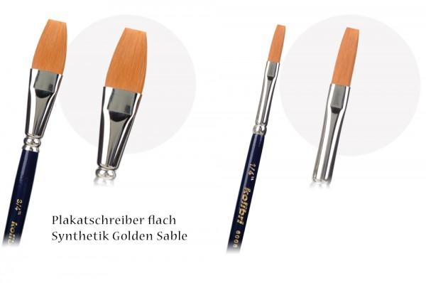 Plakatschreiber flach - Synthetic Golden Sable