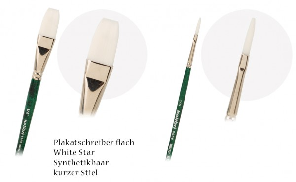 Plakatschreiber White Star - flach - Synthetikhaar