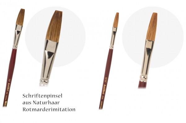 Plaktschreiber - Rotmarder-Imitation - Naturhaar