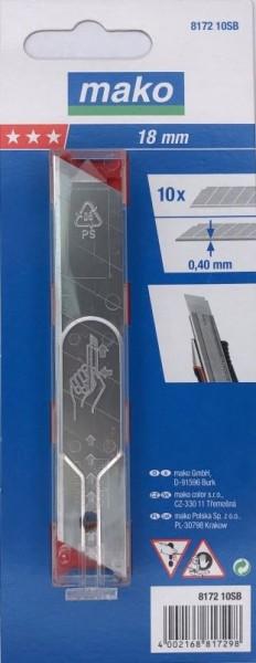Abbrechklingen_eisgehärtet_817210SB_18mm im Sicherheitsspender