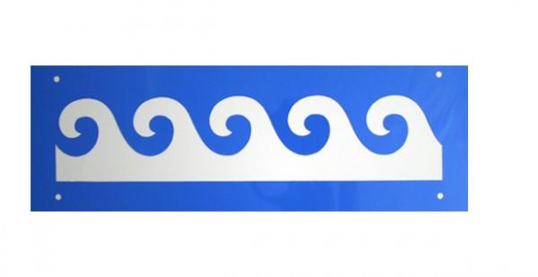 Schablone Welle - Wandschablone, Bordürenschablone