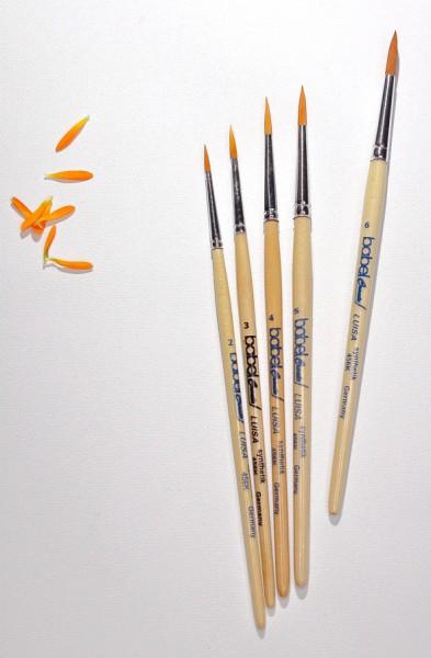 Aquarellpinsel-Set LUISA rund Gr. 2-6 Schulmalpinsel