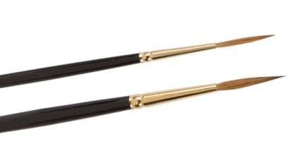 Kolinsky-Schreibpinsel Golden Star spitz, langer Stiel, Schriftenpinsel, Linierer, Schreibpinsel