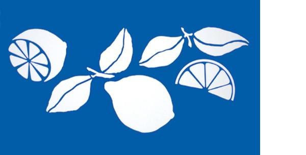 Schablone Zitrone - Wandschablone, Malerschablone