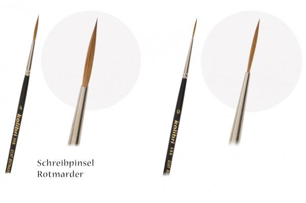 Rotmarder-Schreibpinsel spitz, Schriftenpinsel, Linierer
