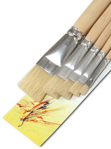 Borsten-Künstlerpinsel Set flach