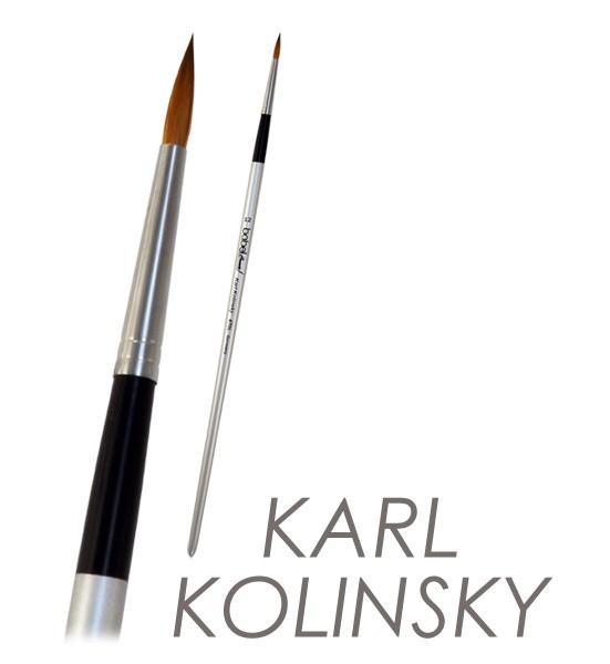 Kolinskypinsel - Künstlerpinsel mit ausgesuchtem Kolinskyhaar