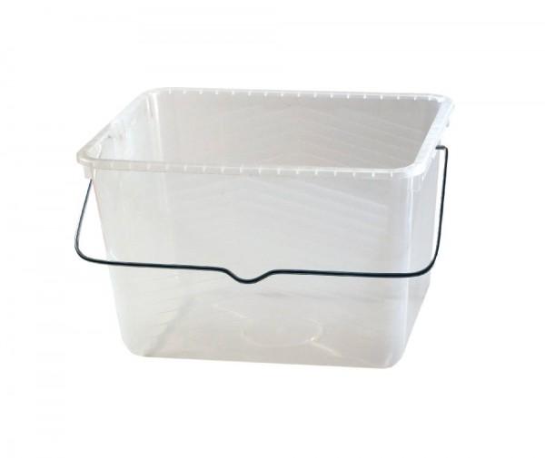Farbeimer rechteckig - transparent - 8 Liter Inhalt