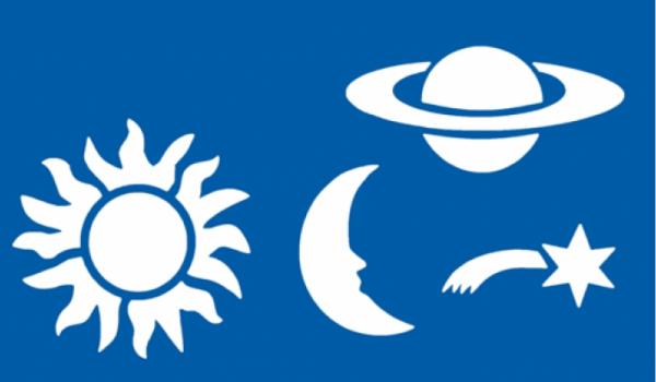 Schablone Weltall, Sonne, Mond, Sterne, Komet, Planet - Wandschablone
