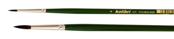Ölmalpinsel, rund - langer Stiel - Iltishaarmischung
