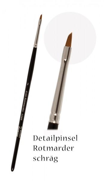 Detailpinsel Modellbaupinsel Nailpinsel flach schräg Rotmarder Haar Retuschierpinsel