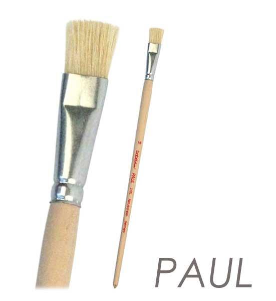 Borsten Künstlerpinsel PAUL flach - langer Stiel