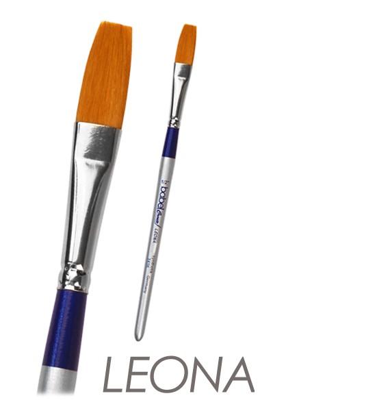 Plakatschreiber LEONA flach - Synthetikhaare - kurzer Stiel
