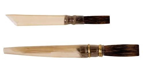 Keramikpinsel, Malpinsel für Keramik und Porzellan, Kielpinsel, stumpf
