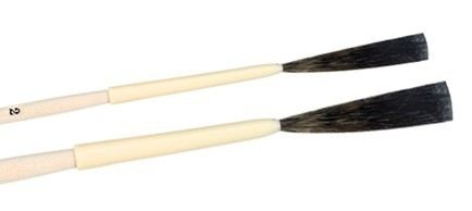 Haarschlepper stumpf und extralang, Kunststoffkiel und Holzstiel, Linierer, Schriftenpinsel