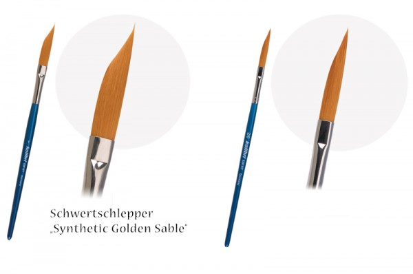 Schwertschlepper Synthetik Golden Sable Schriftenpinsel Linieren Konturen Schriften