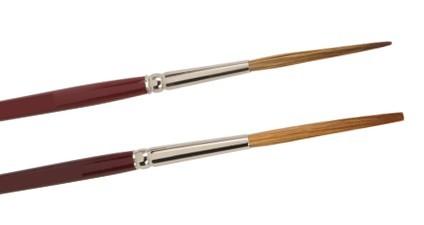 Haarschlepper stumpf & extralang - Rotmarderimitation - kurzer Stiel