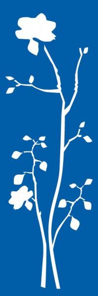 Schablone Orchidee - XL Wandschablone, Malerschablone